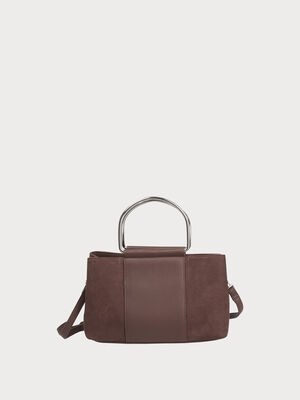 Sac a main city rectangulaire marron fonce femme