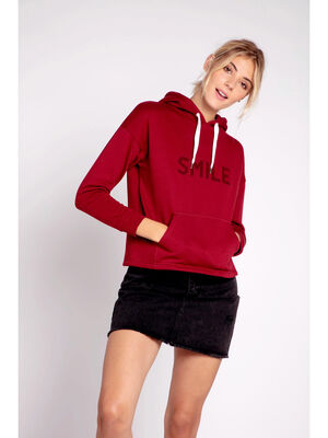 Sweat a message bordeaux femme