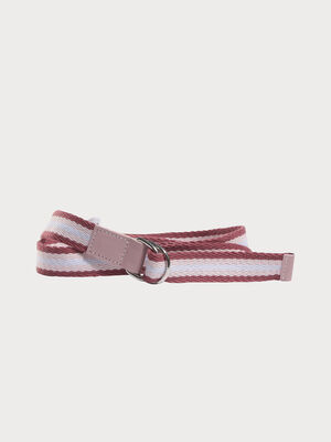 Ceinture sangle tressee rose femme