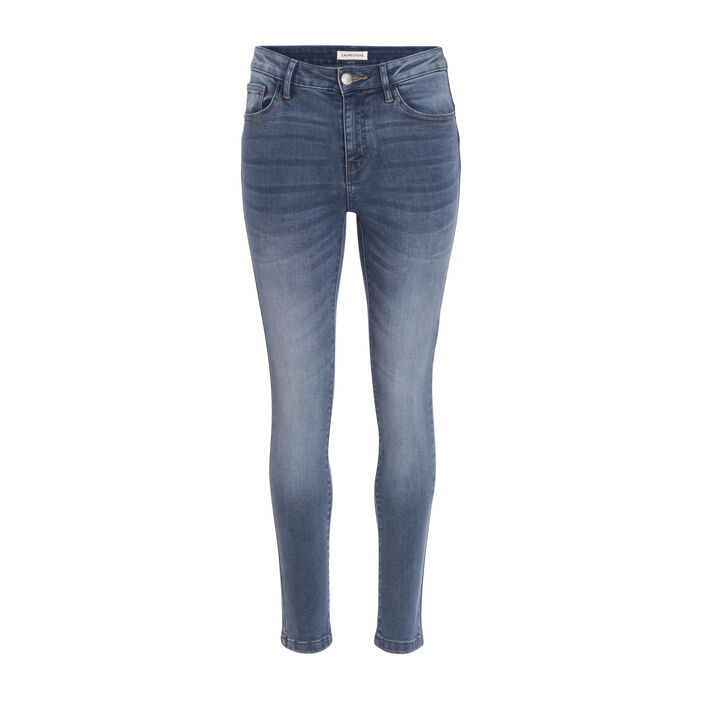 Jean skinny push-up denim double stone femme