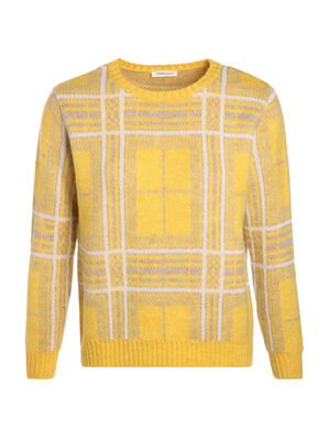 Pull manches longues col rond beige femme