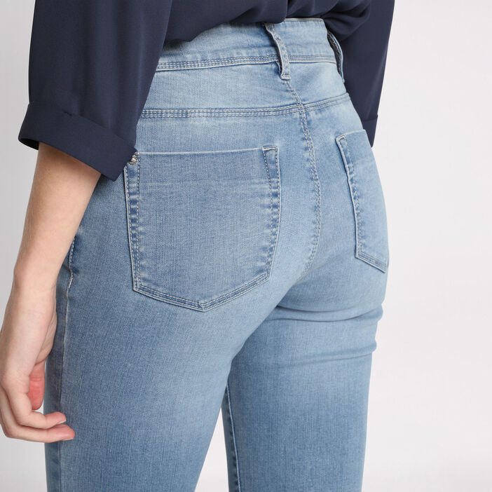 Jeans slim 5 poches denim dirty femme