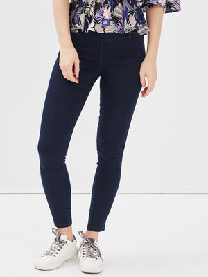 Jegging push up uni denim brut femme