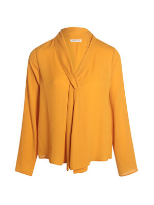 Blouse manches longues jaune or femme
