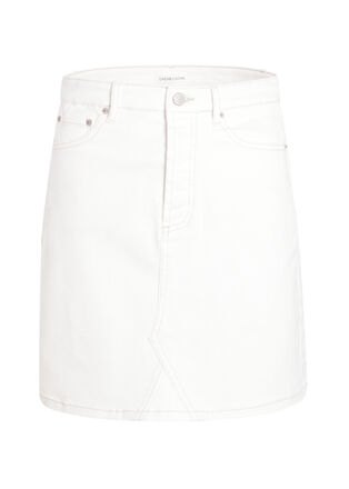 Jupe droite taille standard blanc femme