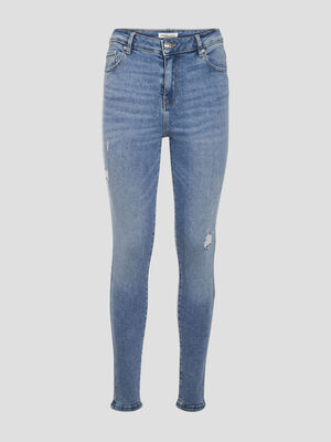 Jeans skinny 5 poches denim double stone femme