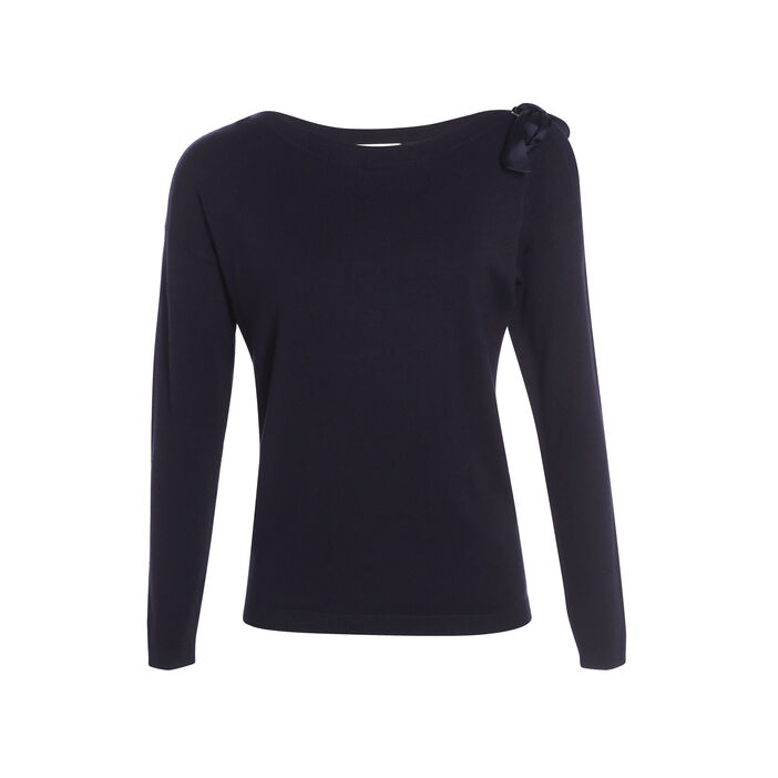 Pull manches longues noeud  femme