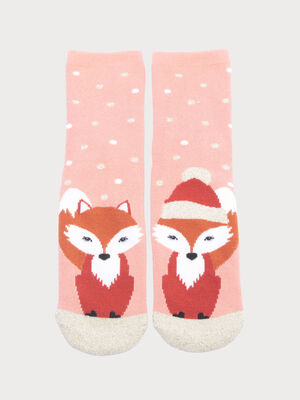 Chaussettes antiderapantes rose femme
