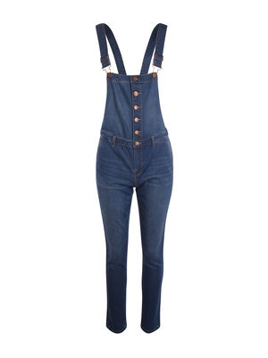 Salopette en jean slim denim double stone femme