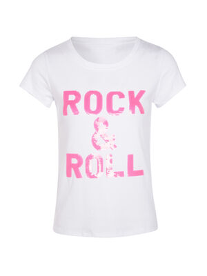 T shirt manches courtes rose framboise femme