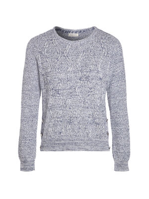 057f54cd103 Pull manches longues col rond bleu femme. Achat rapide
