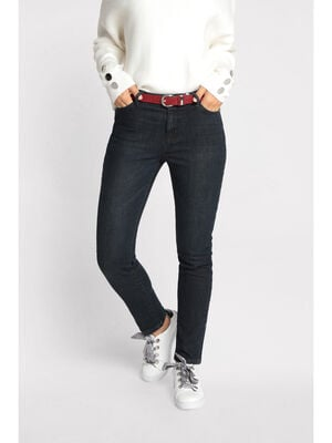 Jeans slim a ceinture denim blue black femme