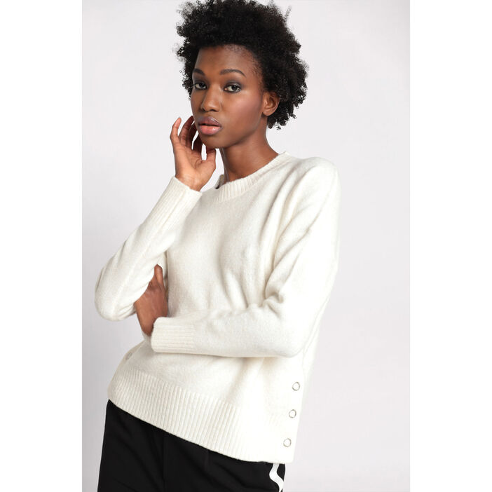 Pull manches longues boutons  femme