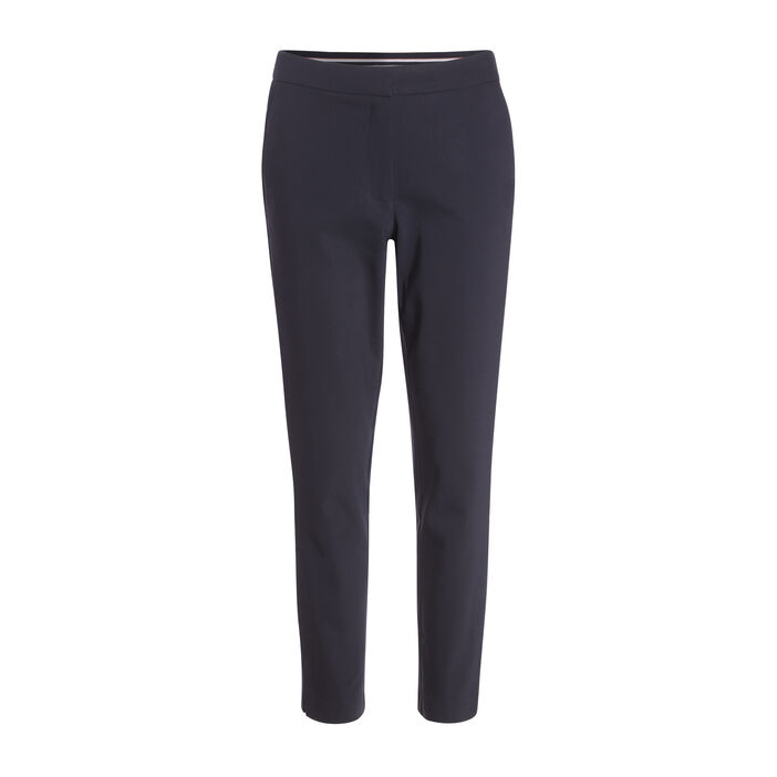 Pantalon city coupe cigarette bleu marine femme