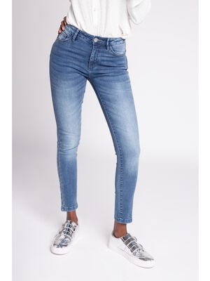 Jeans skinny effet push up denim double stone femme