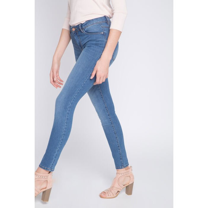 Jeans slim 5 poches denim double stone femme