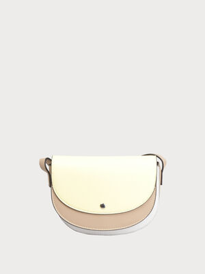 Sac besace a bandouliere jaune clair femme