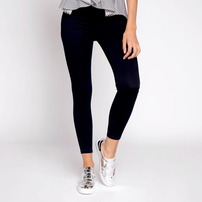 Jegging push-up uni denim brut femme