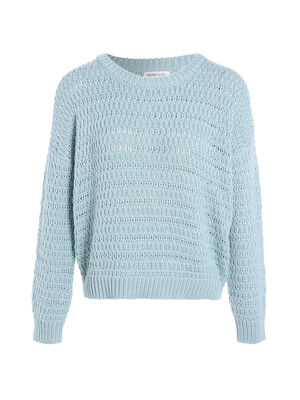 Pull ample ajoure vert clair femme
