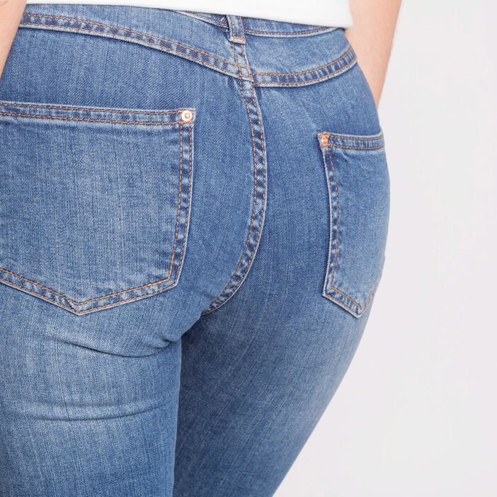 Jeans cropped   denim double stone femme