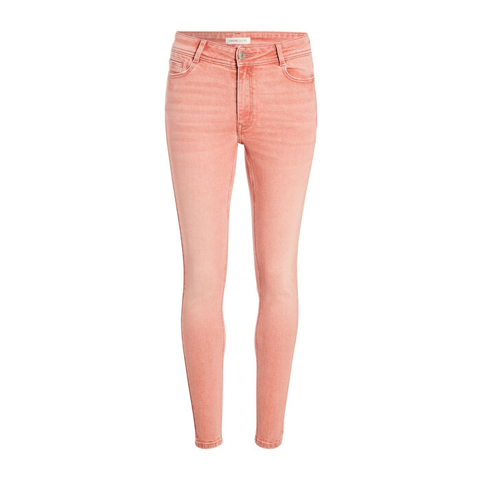 Jeans skinny rose clair femme