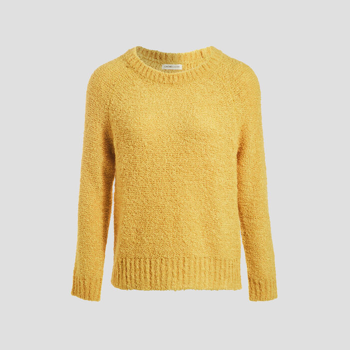 Pull manches longues vert anis femme