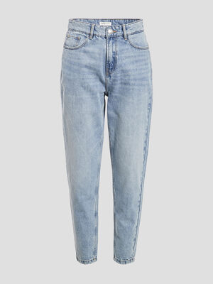Jeans mom taille haute denim double stone femme