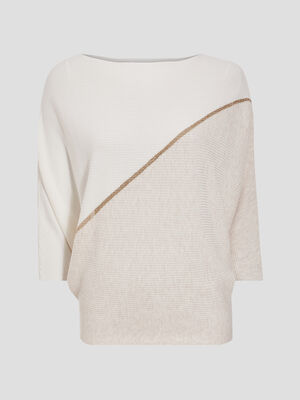 Pull manches 34 sable femme