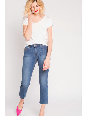 Jeans cropped  denim double stone fem