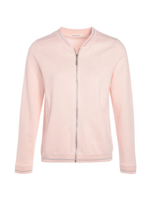 Bomber maille metallisee rose clair femme