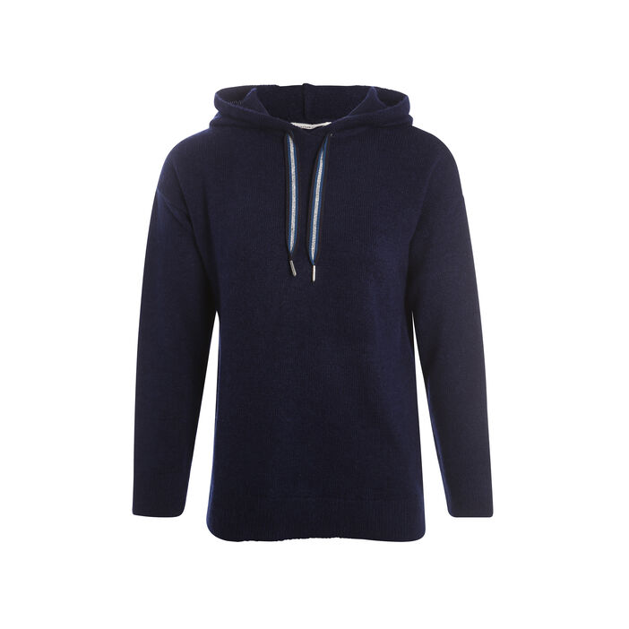 Pull manches longues capuche  femme