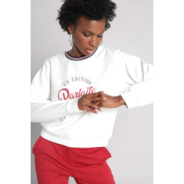 Sweat manches longues col rond  femme