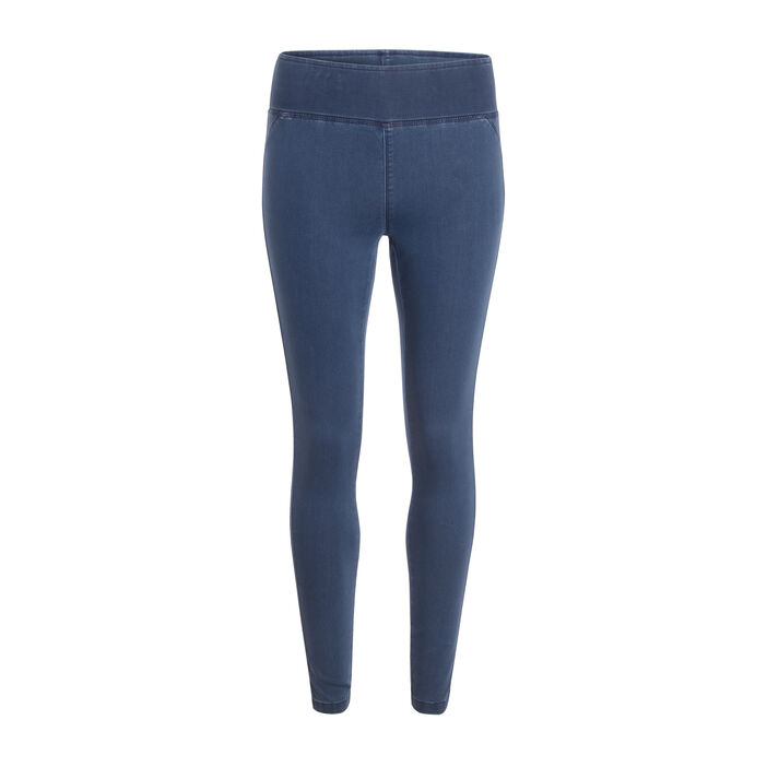 Jegging push-up uni denim bleach femme