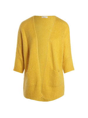 Gilet manches 34 a coupe loose jaune or femme