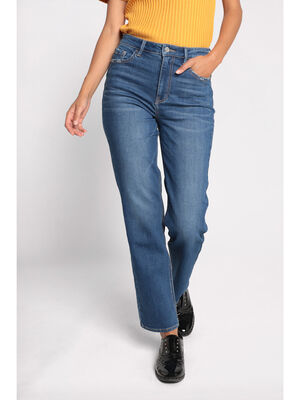 Jeans regular 5 poches denim double stone femme