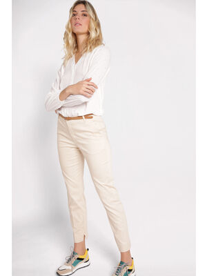 Pantalon city 78 4 poches sable femme
