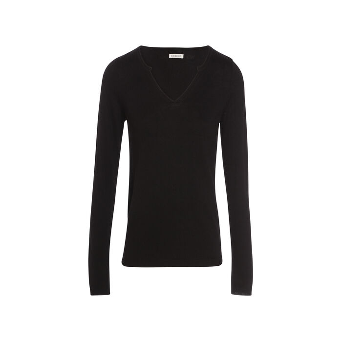 Pull manches longues strass  femme