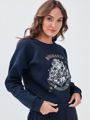Sweat Harry Potter bleu marine femme