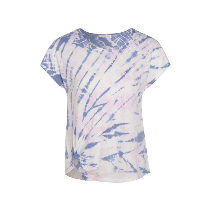 T-shirt tie and dye rose femme