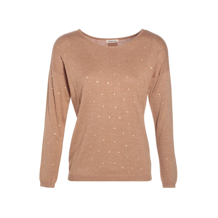 Pull manches longues à boutons  femme