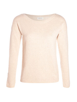 Pull col rond bateau sable femme