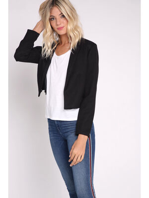 the latest 7dfa6 ed4b8 Blazer court noir femme
