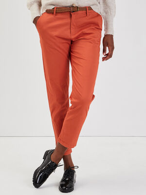 Pantalon chino 78eme orange femme