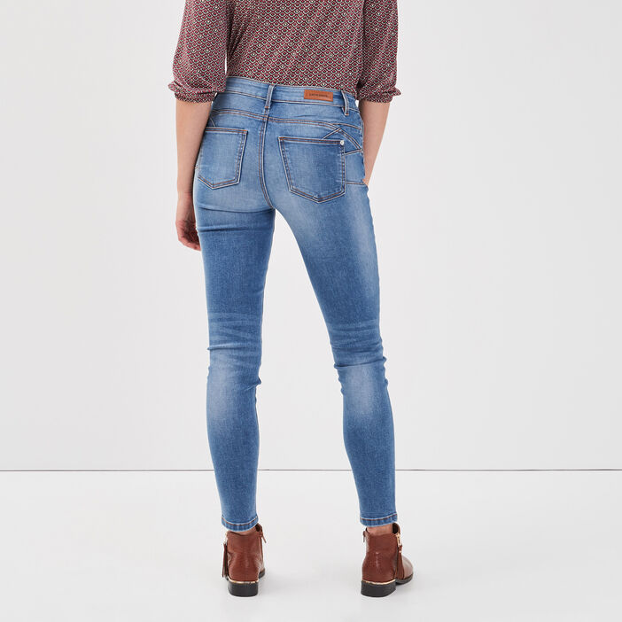 Jeans skinny push-up denim bleach femme