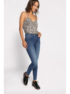 Jeans skinny push up denim double stone femme
