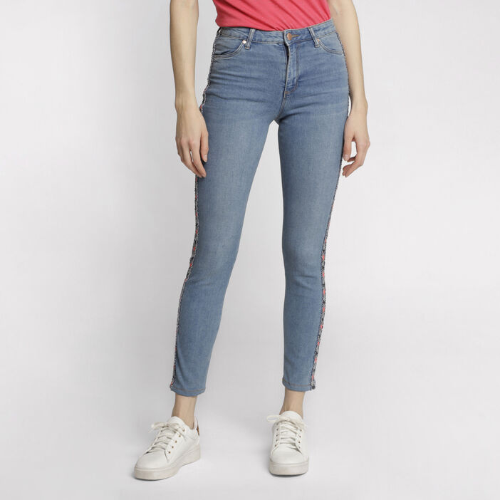 Jeans skinny taille standard denim double stone femme