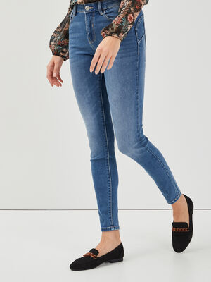 Jeans skinny push up denim bleach femme