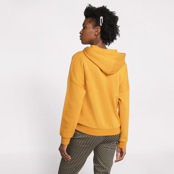 Sweat manches longues jaune moutarde femme