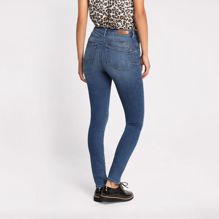Jeans skinny push-up denim double stone femme