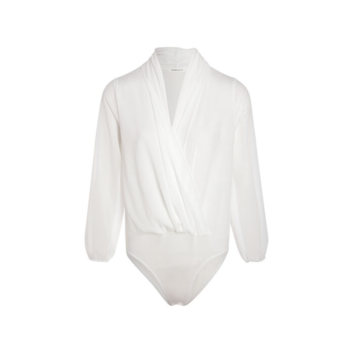 Body manches longues blanc femme